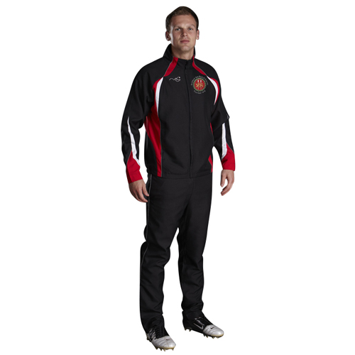 Droitwich Performance Tracksuit Black/Red/White