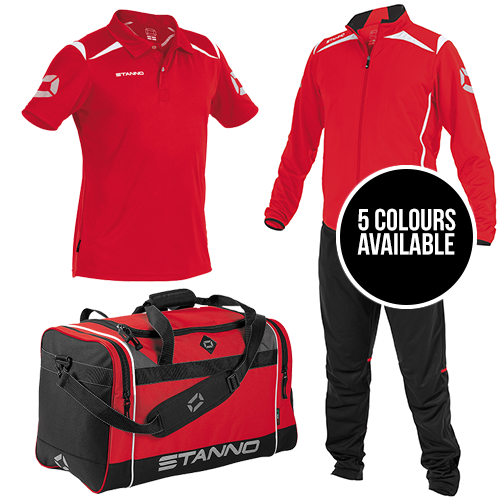 Stanno Forza Tracksuit Polo & Bag Package